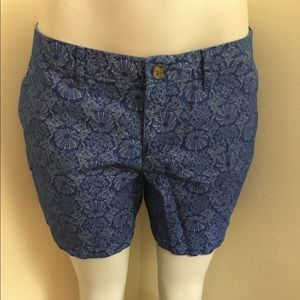 Blue And White Jellyfish And Coral Print Short